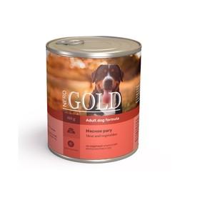 Влажный корм Nero Gold для собак, мясное рагу, ж/б, 810 г