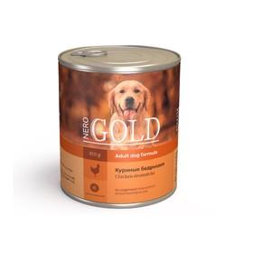 Влажный корм Nero Gold для собак, куриные бедрышки, ж/б, 810 г