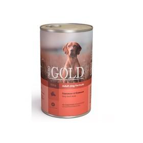 Влажный корм Nero Gold для собак, говяжьи отбивные, ж/б, 1250 г