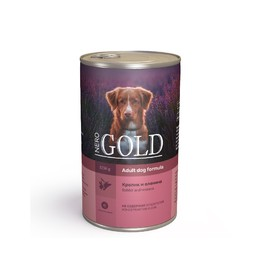 Влажный корм Nero Gold для собак, кролик и оленина, ж/б, 1250 г