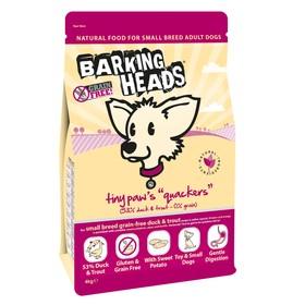 Сухой корм Barking Heads для собак малых пород, беззерновой, утка/батат, 4 кг.