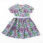 Платье для девочки,рост 92 (52) см, цвет бирюзовый/розовый 8129_М