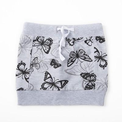 Юбка для девочки,рост 92 (52) см, цвет серый меланж 8132_М