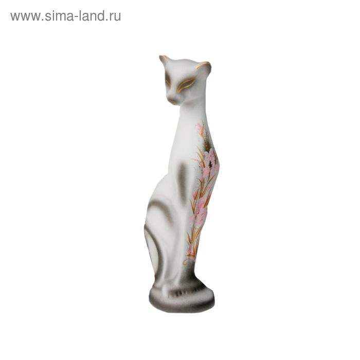 """Статуэтка """"Кошка Багира"""" большая стоячая цветы"""
