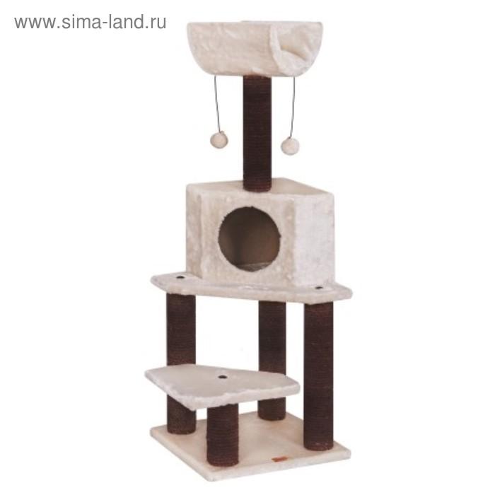 Игровая площадка Fauna INT BELLA, для кошек, крем./тем.коричневая