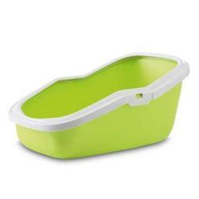 Туалет для кошек ASEO с высокими бортами, зелёное яблоко