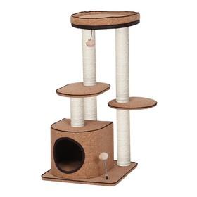 Игровая площадка Fauna INT URBANO, для кошек, коричневая