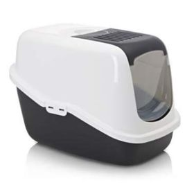 Туалет для кошек NESTOR, белый/черный