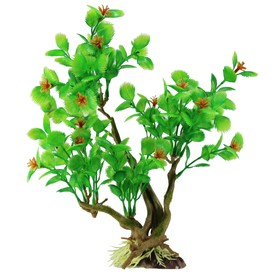 "Декорация  Fauna INT ""Растение на коряге"" №9, 19х11х29см, пластик"