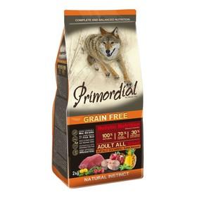 Сухой корм MISTER PET PRIMORDIAL для собак, беззерновой, буйвол/скумбрия, 2 кг.