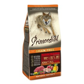 Сухой корм MISTER PET PRIMORDIAL для собак, беззерновой, буйвол/скумбрия, 12 кг.