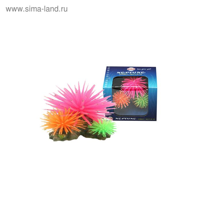 """Декорация Fauna INT """"Кораллы"""", 10,5х9,5х8см, черн/бел/фиолетовый"""