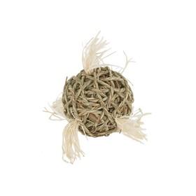 """Игрушка Fauna INT """"Мяч плетеный"""", для грызунов, 10см, водоросли"""