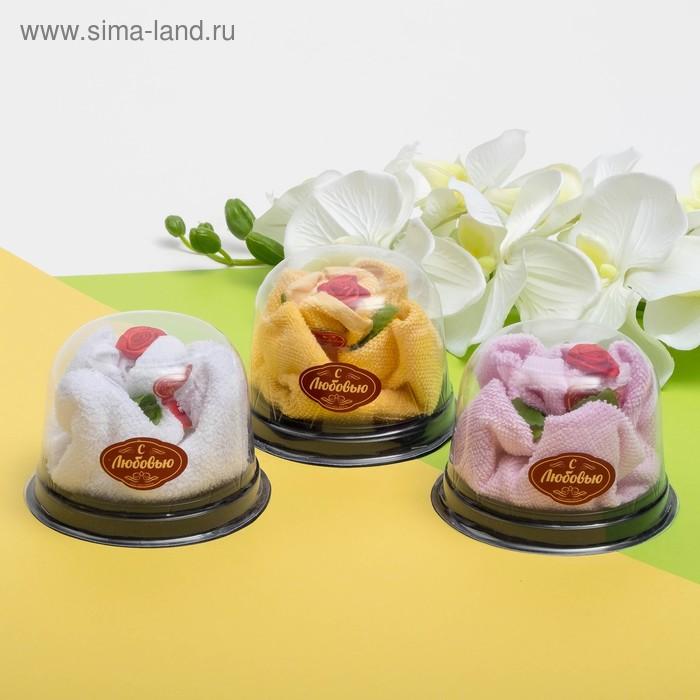Сувенирное полотенце Роза 30х30 см МИКС