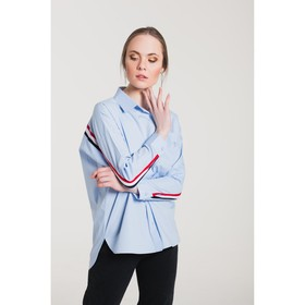 Блуза женская 61020 цвет голубой, р-р 42 (S/36)