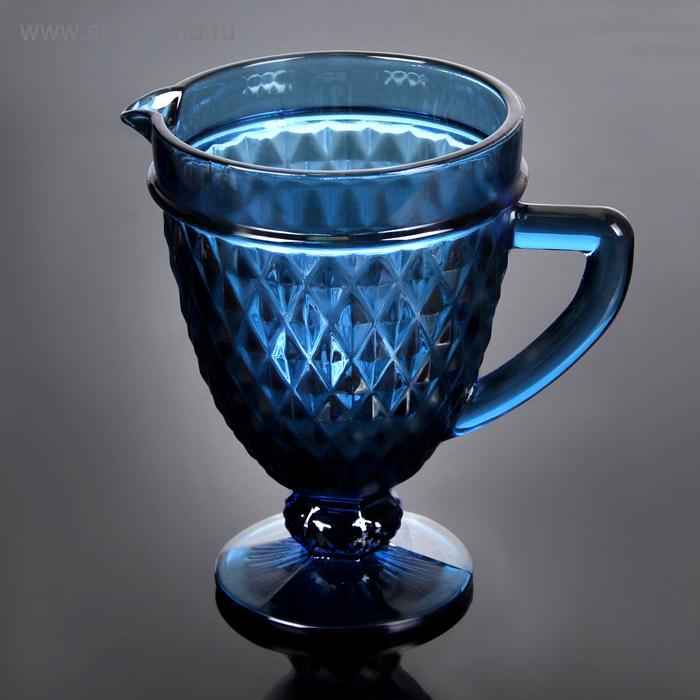 """Кувшин 1,1 л """"Элегия"""", цвет синий"""