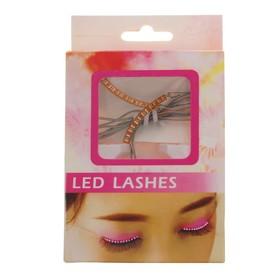 Carnival eyelashes light, color pink