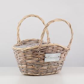 Кашпо «Цветы», сумочка, натуральное, 34×25×19/32 см, ротанг