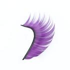 Ресницы накладные, с клеем, цвет фиолетовый