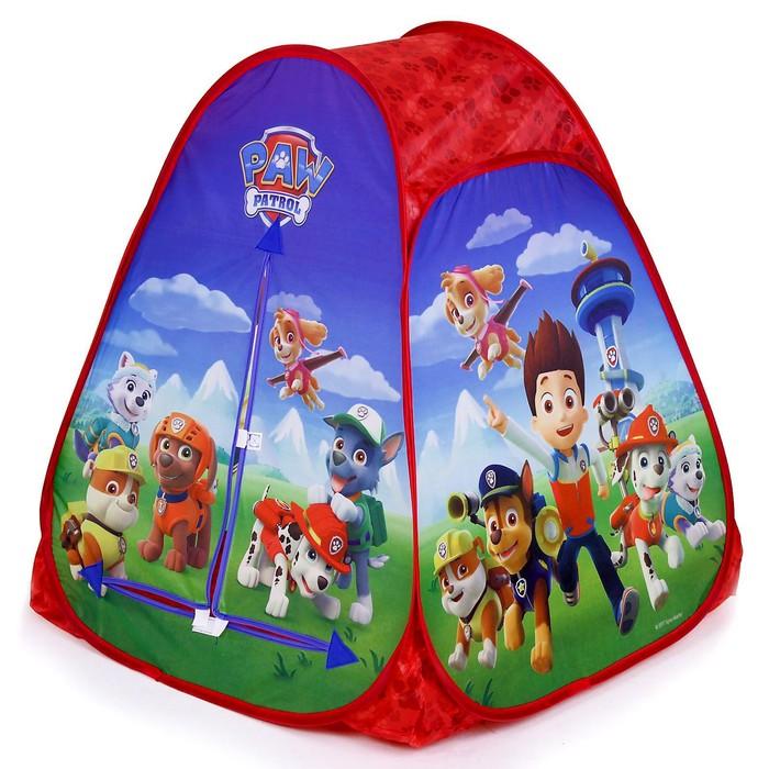 """Игровая палатка """"Щенячий патруль"""" в сумке 81x91x81 см GFA-PP01-R"""