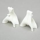 Holder for brushes vines, set of 5 PCs, white