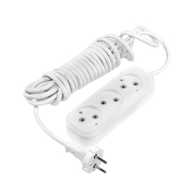 Smartbuy extension cord, 3 sockets, 5 m, 10 A, 2200 W, PVA 2x1 mm2, without s / c