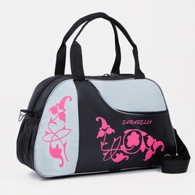 f055b6d35737 Сумка спортивная, отдел на молнии, наружный карман, цвет чёрный/розовый Ош