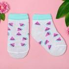 "Socks Baby I ""Fruit. Watermelon"" 12-14 cm, 1-2 years, 100% cotton"