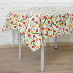 Скатерть «Солнечные тюльпаны», 120х180 см