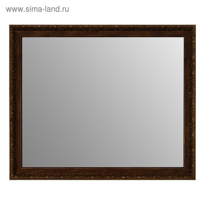 Зеркало в коричнево-золотой раме, 50х60 см