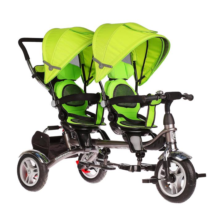 Велосипед трёхколёсный Black Aqua Twins, цвет зелёный
