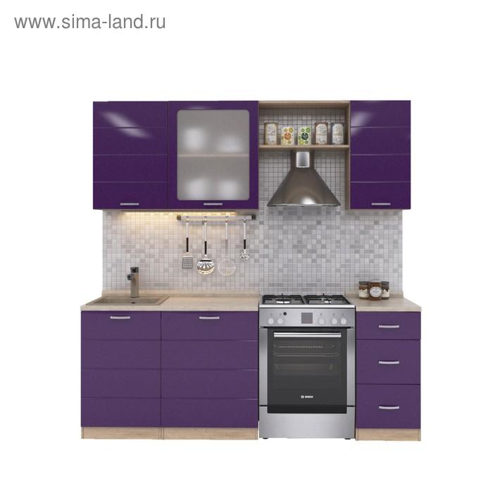 Кухонный гарнитур 1500 Шоколад/Глинтвейн мет.глянец