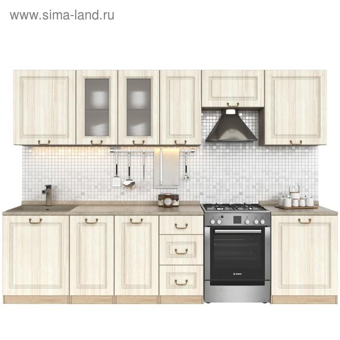 Кухонный гарнитур, 2400 мм, цвет Каприз/Сандал белый