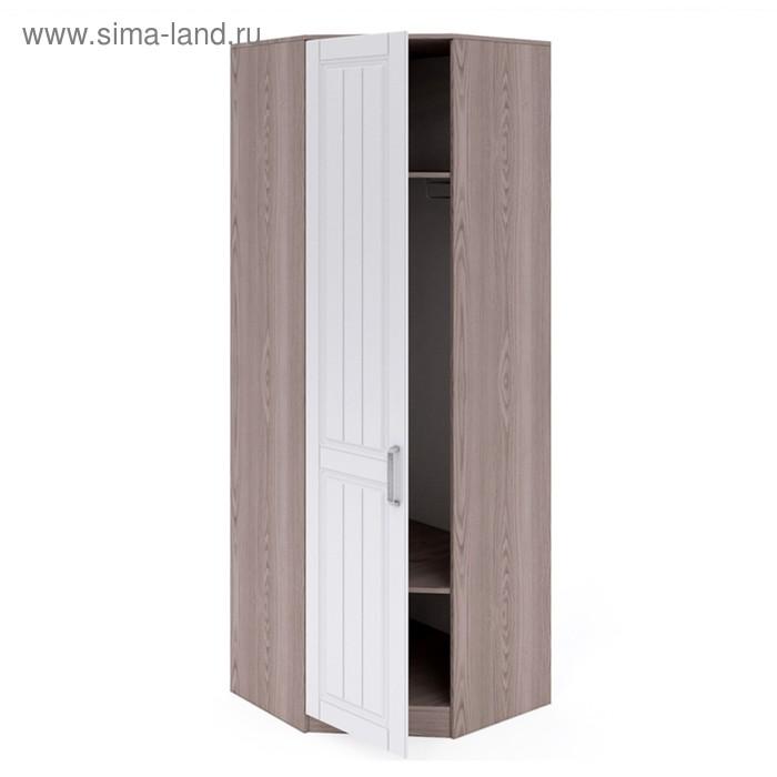 Шкаф угловой №2 левый Аллегро, 772х772х2200, Платина шагрень/Дезира светлый