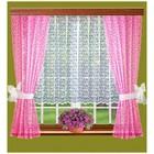 Комплект штор, размер 165 х 160 см - 2 шт, 200 х 100 см, цвет розовый - фото 8443749