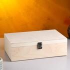 Подарочный ящик 34×21.5×10.5 см деревянный, с закрывающейся крышкой, без покраски - фото 813219