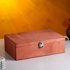 Подарочный ящик с ручкой, светло-коричневый, 34х21.5х10.5см