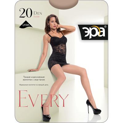 Колготки женские ЭРА Every 20 цвет чёрный, р-р 4