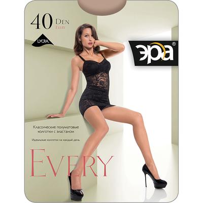 Колготки женские ЭРА Every 40 цвет загар, р-р 4