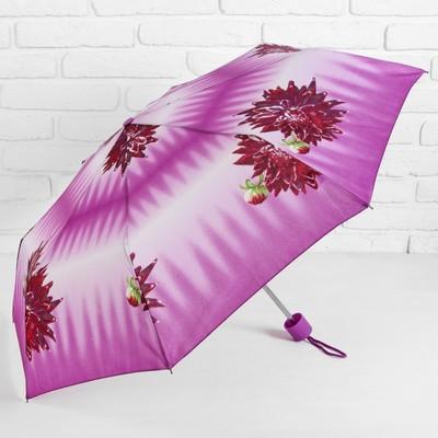 """Зонт механический """"Цветы"""", R=44см, цвет розовый"""