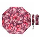 """Зонт механический """"Цветы"""", R=45см, цвет красный"""