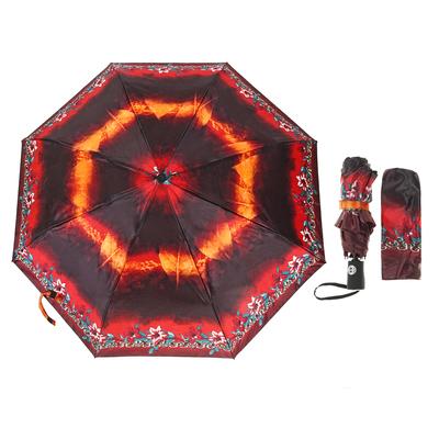 Зонт автоматический, R=49см, цвет чёрный/оранжевый
