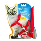 Шлейка Nobby для кошек, красная