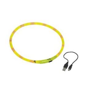 Шнур Nobby для собак, светодиодный/аккум. 40см, желтый