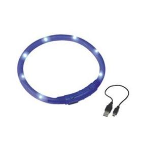 Шнур Nobb, для собак, светодиодный/аккум. 40см, синий