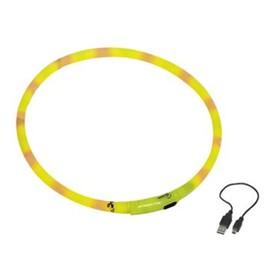 Шнур Nobby для собак, светодиодный/аккум. 70см, желтый