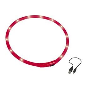 Шнур Nobby для собак, светодиодный/аккум. 70см, красный