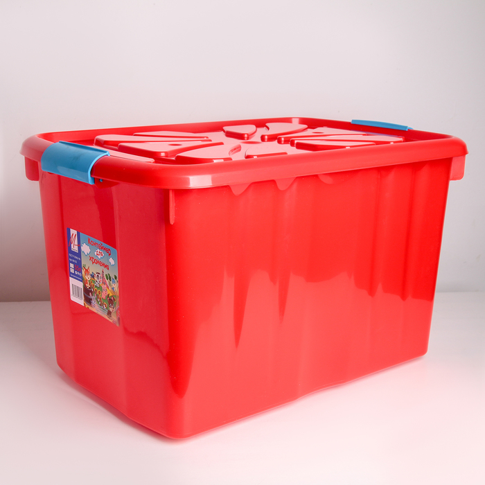 Контейнер для хранения детских игрушек 55 л, цвет МИКС