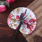 "Plastic fan, paper folding butterfly ""drawings"" MIX 13,5х2х1 cm"