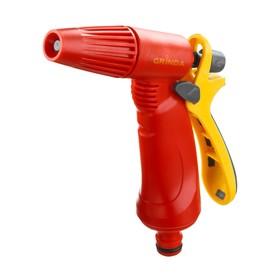 Пистолет-распылитель, регулируемый, штуцер, пластик, GRINDA